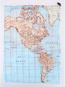 Sac de haine pentru calatorii cu print harta lumii - KIKKERLAND