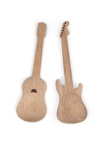 Dřevěný set salátových lžic Kikkerland Kytara