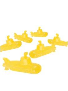 Set 6 cuburi de gheață în formă de submarin galben