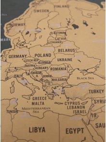 Menšia nástenná stieracia mapa Luckies Deluxe