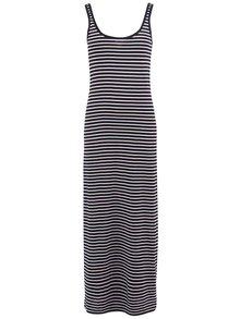 Bielo-čierne pruhované maxišaty VERO MODA Nanna