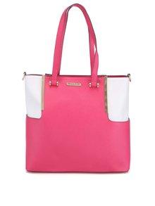 Bielo-ružová kabelka so zlatými detailmi LYDC