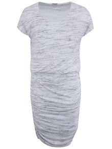 Krémové melírové šaty s krátkym rukávom Noisy May Jimmy