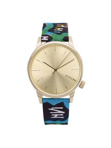 Unisex hodinky v zlatej farbe s textilným remienkom Komono Winston Gold