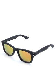 Čierne unisex slnečné okuliare so žltými polarizačnými sklami Komono Allen