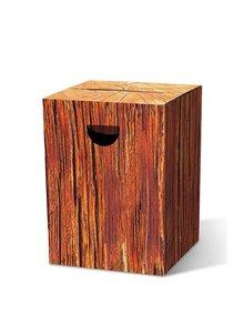 Taburet pliabil Remember Naturbursche cu aspect de lemn