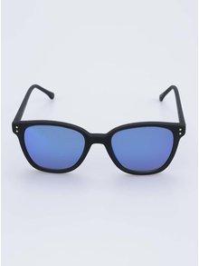 Černé unisex sluneční brýle s modrými polarizačními skly Komono Renee