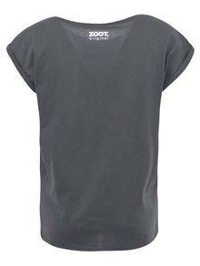 Tmavosivé tehotenské tričko ZOOT Originál Mrak