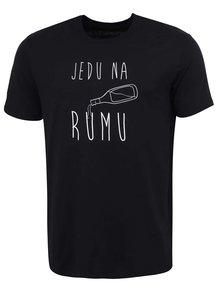 Černé pánské tričko ZOOT Originál Jedu na rumu
