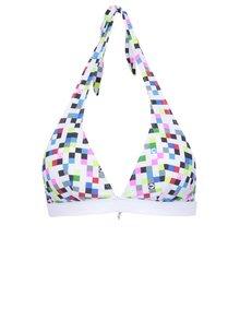 Bílý horní díl plavek s barevnými kostičkami 69SLAM Pixel square