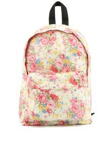 Bílo-růžový květovaný batoh Sass & Belle Vintage Floral Cream