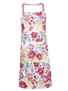Biela zástera s farebnými kvetmi Cooksmart Floral Romance