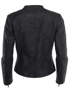 Černý koženkový křivák s kapsami ONLY Biker