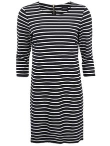 Černo-bílé pruhované šaty s 3/4 rukávy VILA Tinny