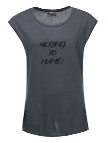 Šedé dámské oversized tričko ZOOT Originál Neříkej to mámě