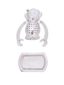 Infuzor de ceai Kikkerland în formă de maimuță - din oțel