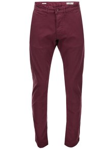 Pantaloni chino vișinii Jack & Jones Bolton