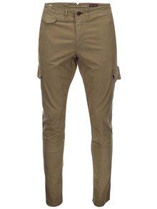 Béžové kapsáčové kalhoty Jack & Jones Glenn