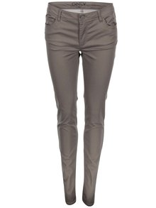 Šedohnědé skinny kalhoty ONLY Minna