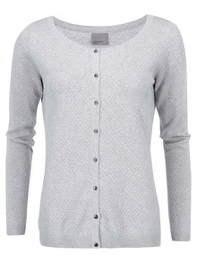 Cardigan VERO MODA Care gri deschis