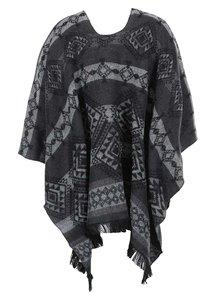 Poncho negru&gri cu model - VERO MODA Rilla