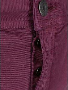 Vínové slim fit nohavice Jack & Jones Glenn