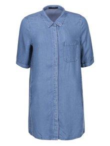Modrá dlouhá džínová košile VILA Elan