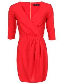 Červené šaty s 3/4 rukávy Closet