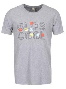 """Dobré"" šedé pánské triko Elpida Old´s Cool"