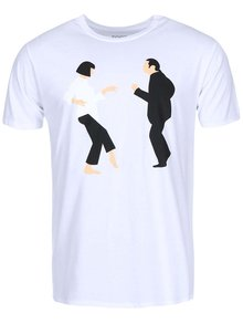 Tricou ZOOT Original Pulp Fiction alb barbatesc