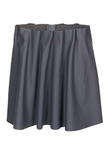 Tmavosivá koženková sukňa VERO MODA Louise