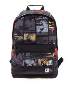 Černý batoh s potiskem Rip Curl Dome Pics