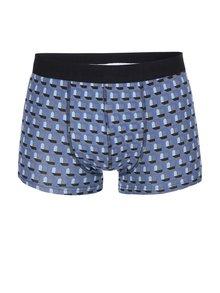 Sivé boxerky s modrým vzorom ONLY & SONS Sergio