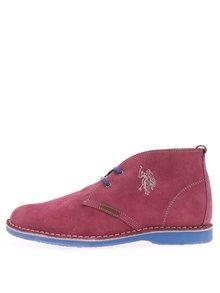 Růžové dámské kožené boty U.S. Polo Assn. Glenda4