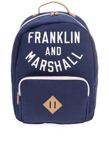 Tmavě modrý unisex batoh Franklin & Marshall