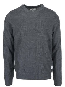 Sivý pánsky sveter s prímesou vlny Bellfield Perlan