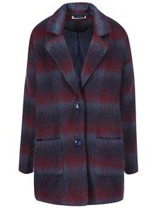 Šedo-vínový oversize kabát Noisy May New Katelyn