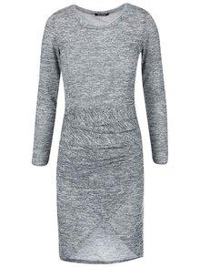 Světle šedé žíhané šaty Haily´s Eileen