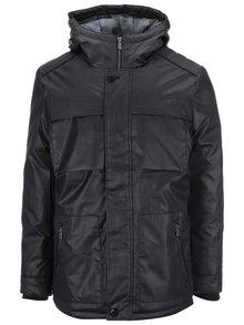 Čierna bunda s kapucňou ONLY & SONS Thomas