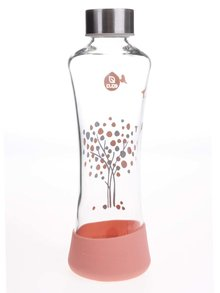 Skleněná láhev s motivem stromu EQUA SQUEEZE (550 ml)