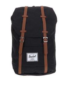 Černý batoh s přezkami Herschel Retreat 19,5 l