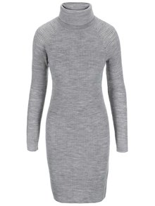 Světle šedé úpletové šaty s rolákem Noisy May Cmyk