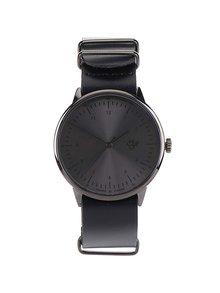 Čierne unisex hodinky s koženým remienkom CHPO Harold Metal