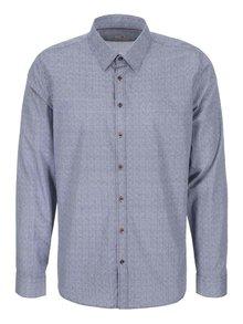 Bílo-modrá košile s tečkovaným vzorem Seidensticker Modern Kent