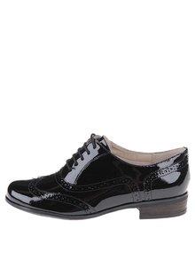 Pantofi brogue de damă, din piele, Clarks Humble Oak - negru
