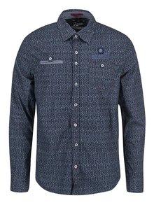 Modrá vzorovaná regular fit košile Twinlife