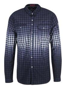 Bílo-modrá kostkovaná regular fit košile Twinlife