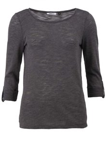 Tmavosivé tričko s 3/4 rukávom ONLY Jess