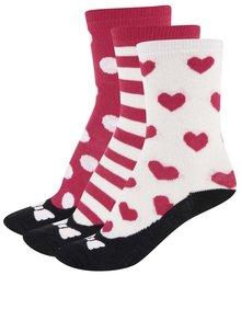 Sada tří dámských/holčičích ponožek červené a bílé barvě se vzorem Oddsocks Ballet