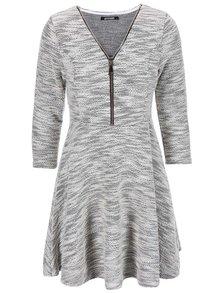 Sivé šaty na zips Haily´s Hazzy